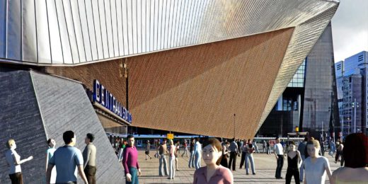 People from 3ds max populate the new Rotterdam central station.