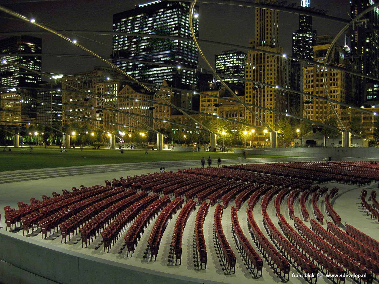 Open air theatre by Frank Gehry in Millennium Park, Chicago.
