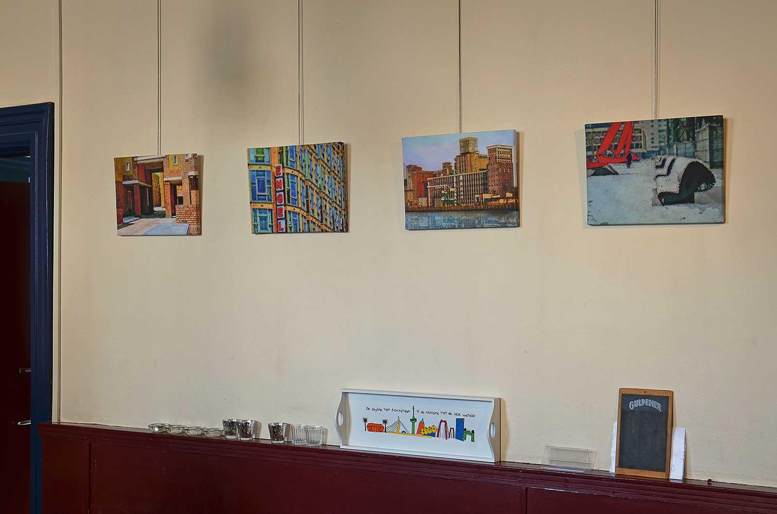 Digitale schilderijen tentoongesteld bij het Nivon in Rotterdam