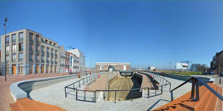 Overzichtsfoto van het gerestaureerde Dokje van Perry in Vlissingen