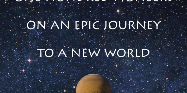 One hundred pioneers on an epic journey to a new world; beeld uit een neptrailer voor de verfilming van Kim Stanley Robinson's Red Mars