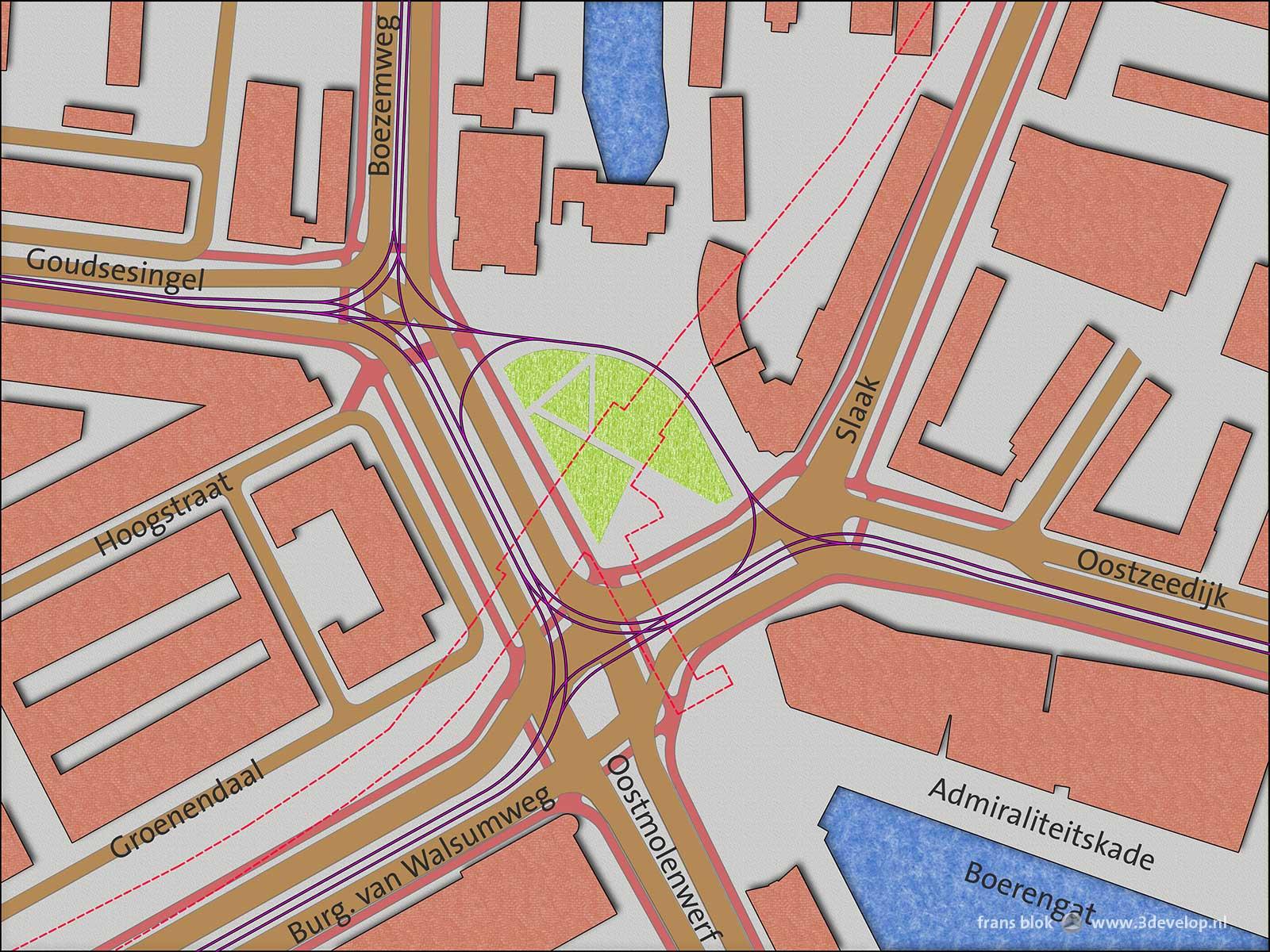 Plan of Oostplein in Rotterdam