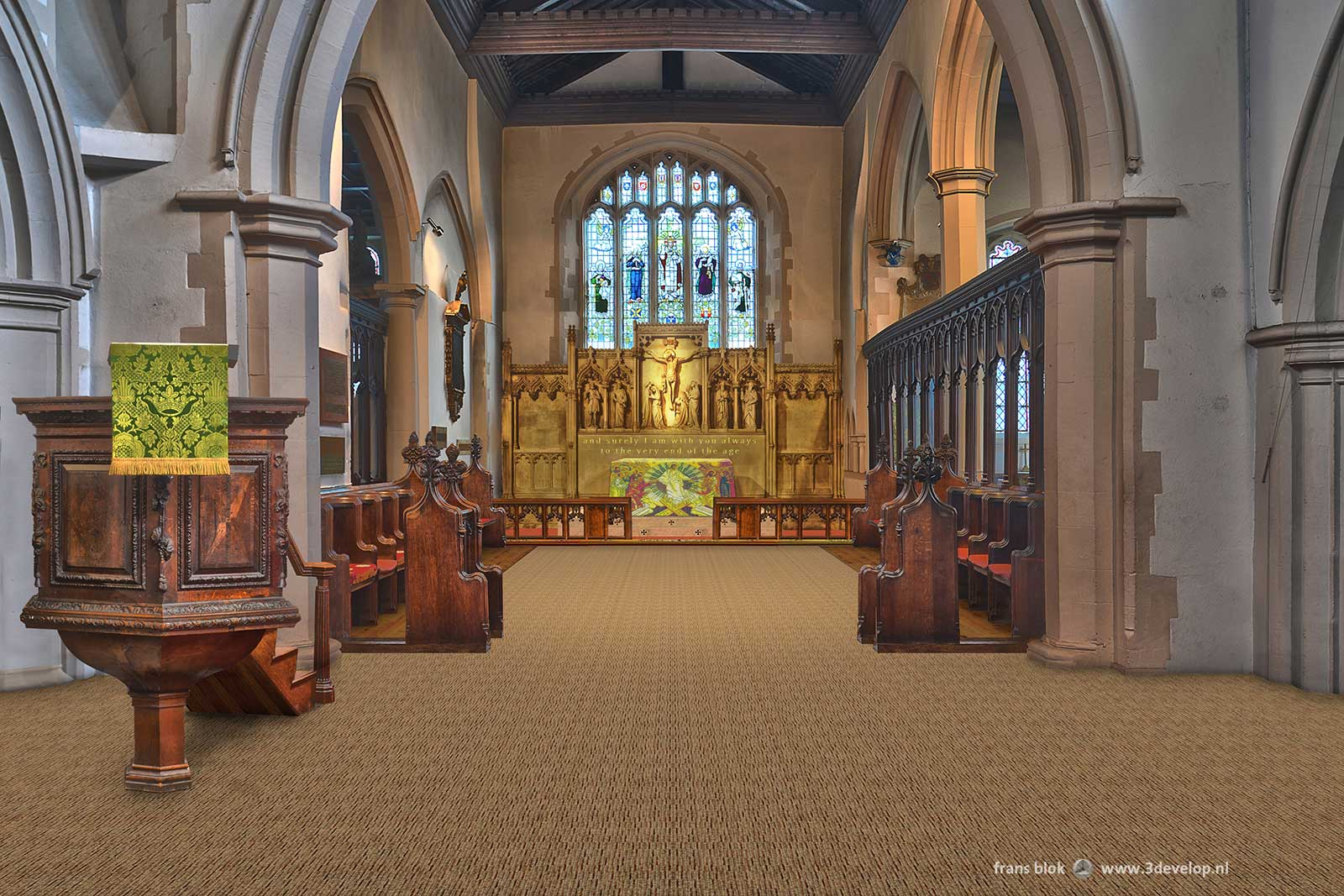 Watford St.Mary's church - re-order of the chancel areA