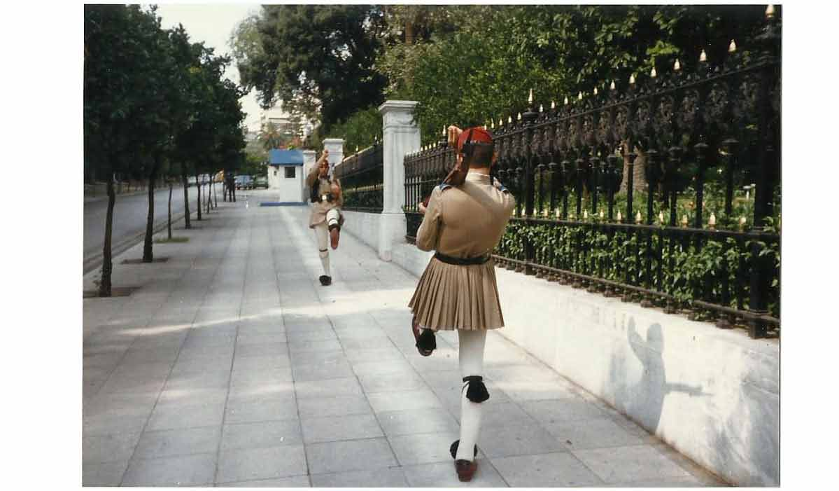 Photo of the changing of the guard in Athens, made with an Automatic Rapid camera in the 1980's