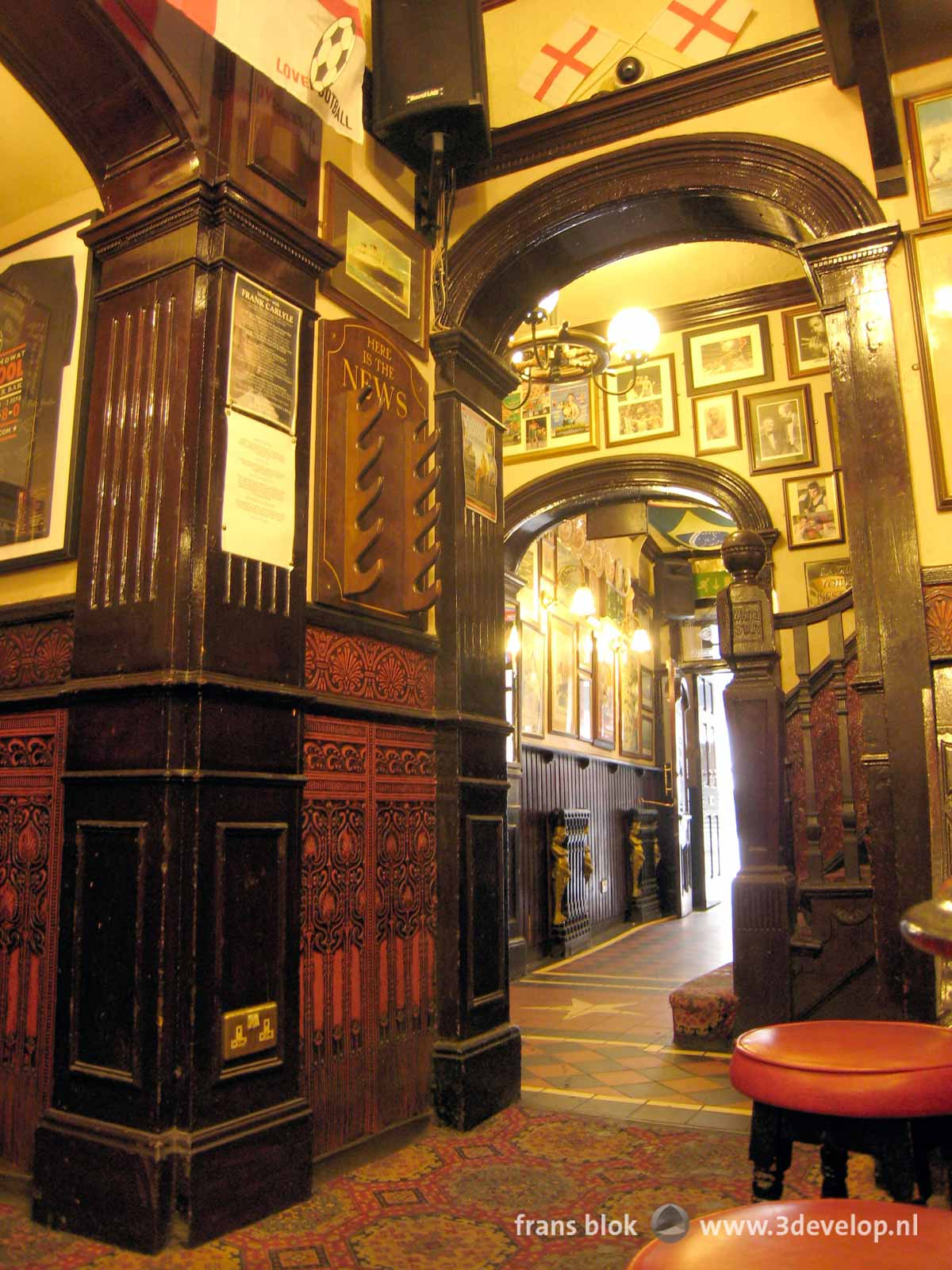 Popular on Pinterest: photo of the interior of a pub in Liverpool, frequented by the Beatles and others
