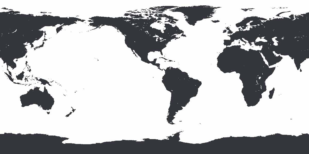 An Amerocentric world map with North and South America in the middle