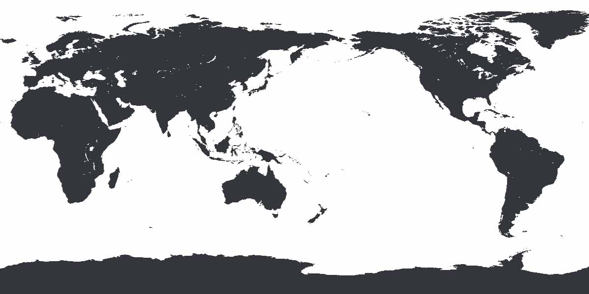 An Australocentric or Asiocentric world map with the Far East and Australia in the middle and the Atlantic Ocean at the edges