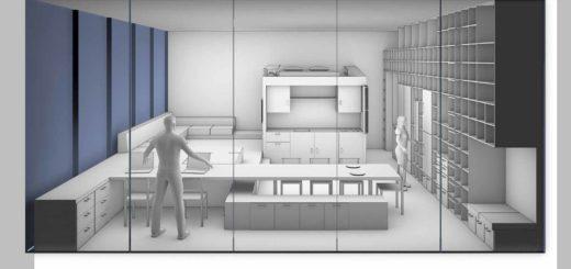 Zicht van buiten af op een condo, een compact stedelijk luxe appartement voor twee personen en een kat