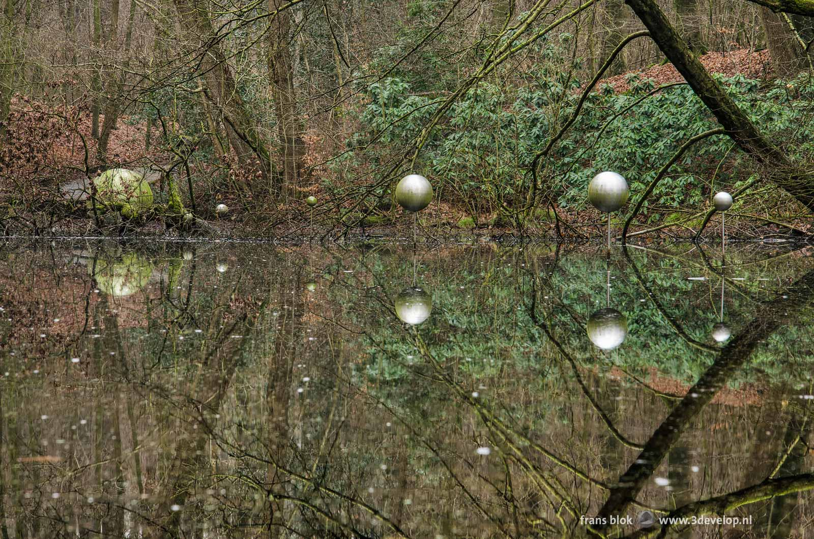 Sculpture Skies Captured by Henrietta Lehtonen also known as the Forest Planetarium in the Cold Pond in Park Sonsbeek in Arnhem, the Netherlands