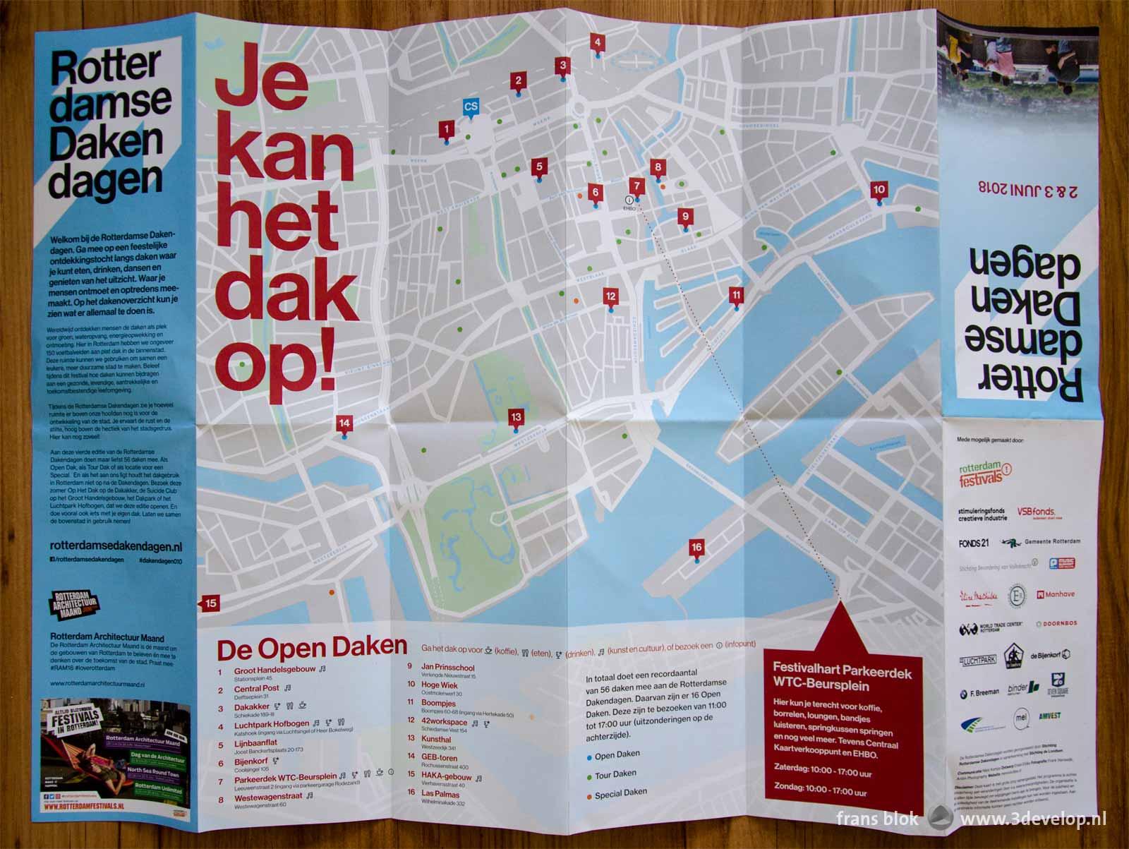 Folder van de Rotterdamse Dakendagen 2018