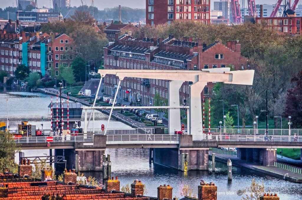 Mathenesser bridge across Delfshavense Schie in Rotterdam West