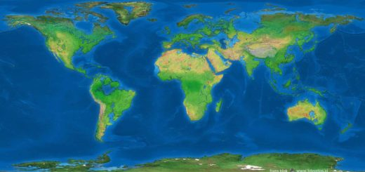 The Drowned Earth: a world map as it looks after the ice sheets of Greenland and Antarctica have melted, around 4000 AD