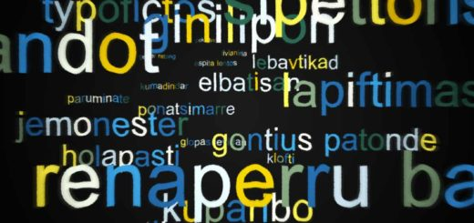 Gibberish: dozens of fantasy words in the bedroom colors yellow, blue and green, to easily fall asleep