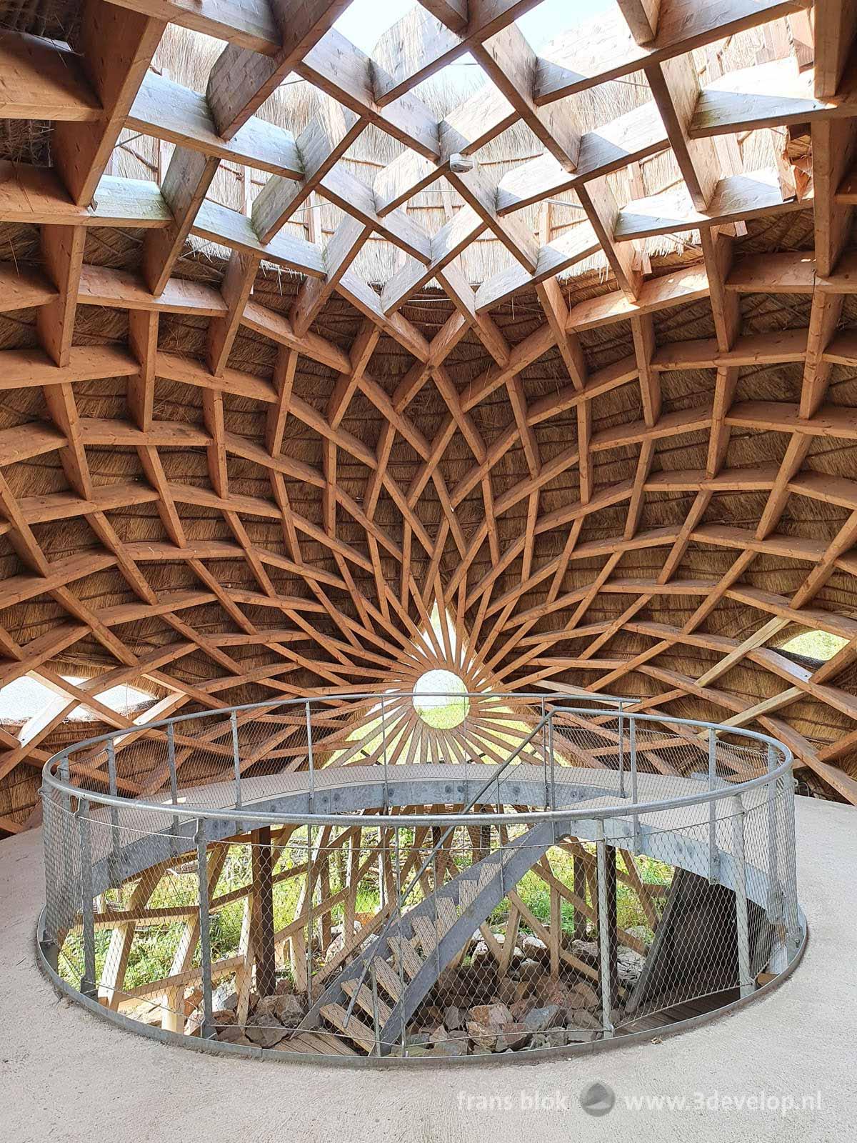 Interior of the archutectural bird observatory Tij near Haringvliet estuary in Stellendam, The Netherlands