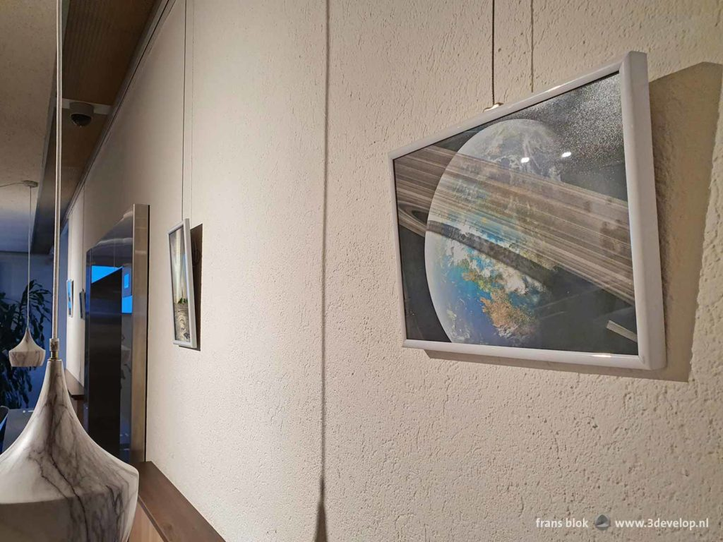 The rings of Venus and other space art by Frans Blok, exhibited at the RIVM in Bilthoven, The Netherlands