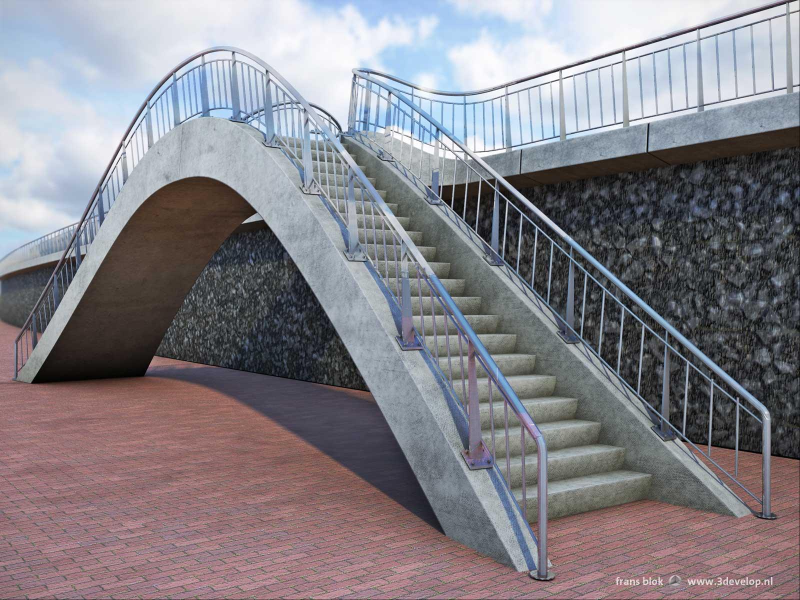 3d werk infrastructuur 3develop visualisatie en ontwerp - Versier een trap ...