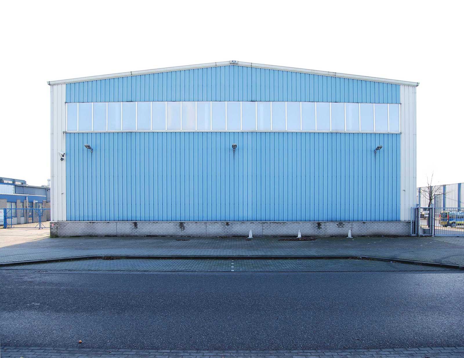 Existing facade of the Euramax factory