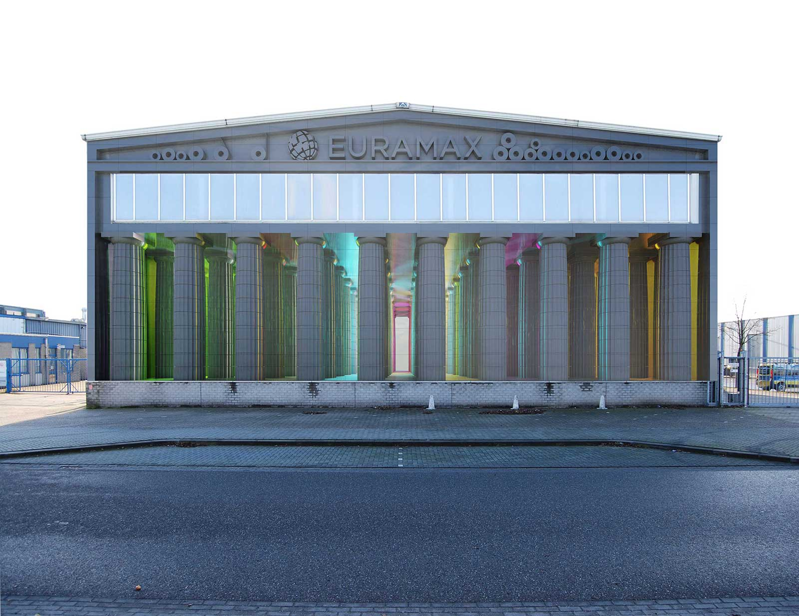 Proposed facade of the Euramax factory