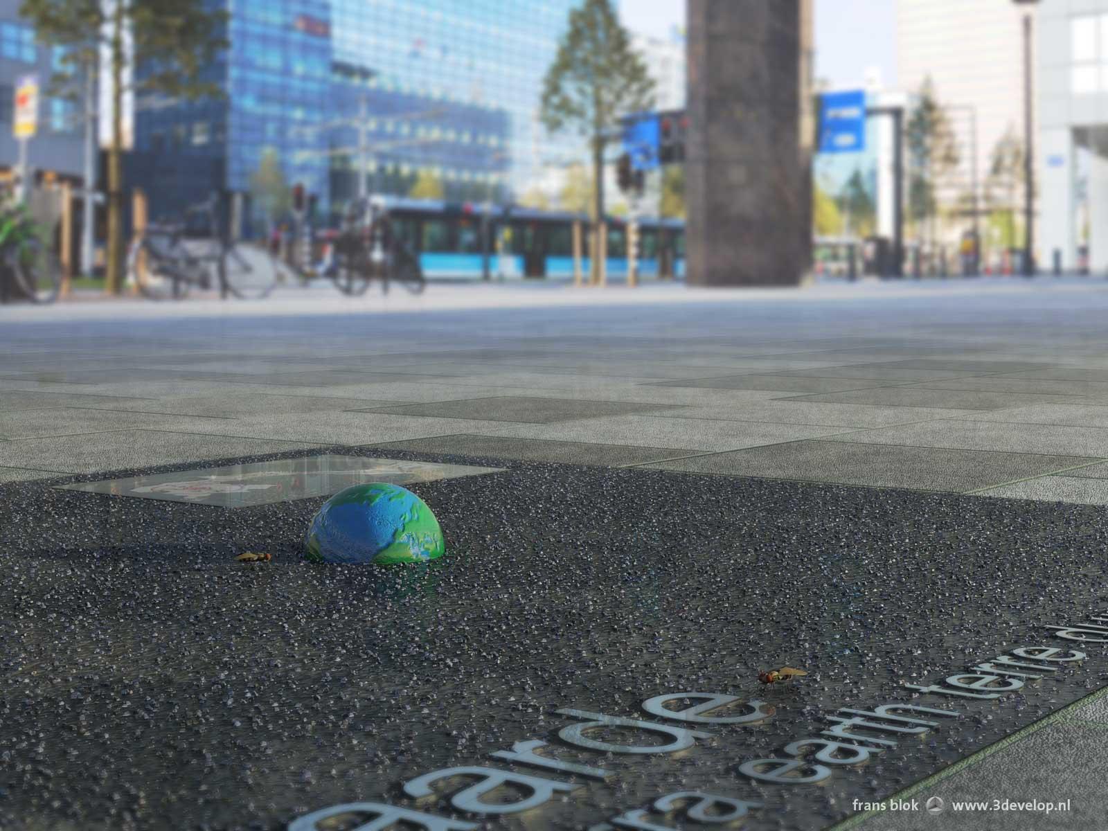 The Earth on Weena boulevard as part of the Rotterdam Streetplanetarium