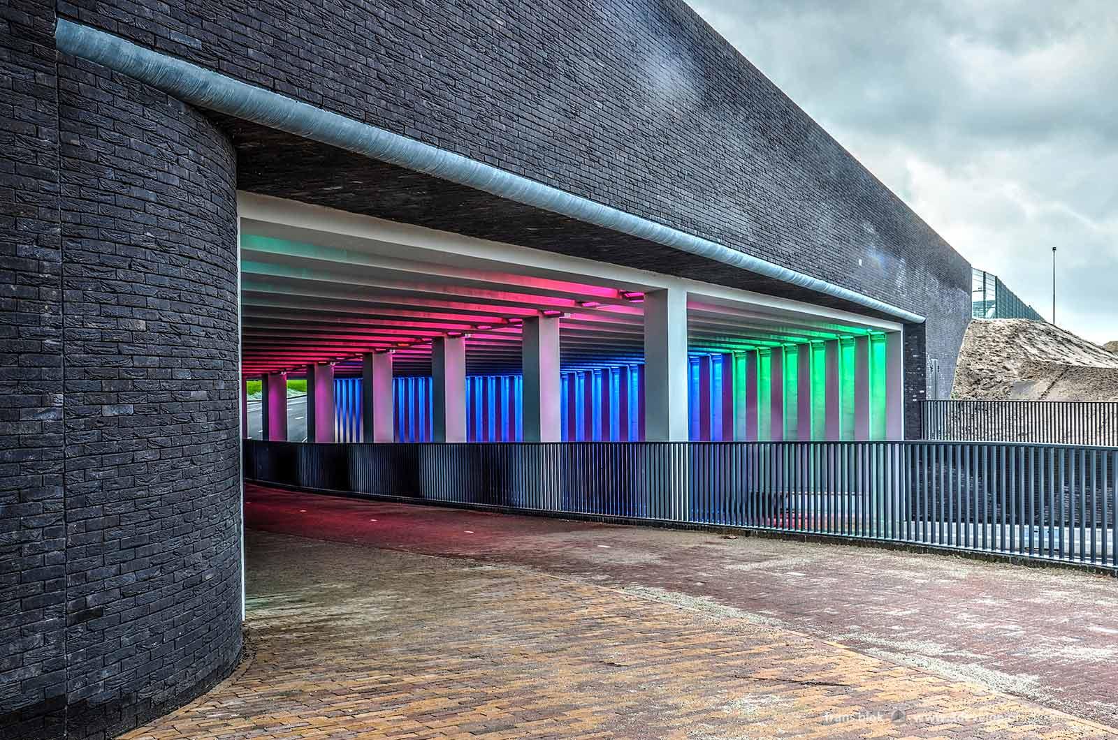 Photo of the Marstunnel in Zutphen looking from Noorderhaven and De Mars towards the city center