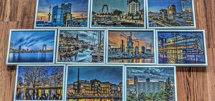 Selection of photographs with the theme of Rotterdam on the edges of the night