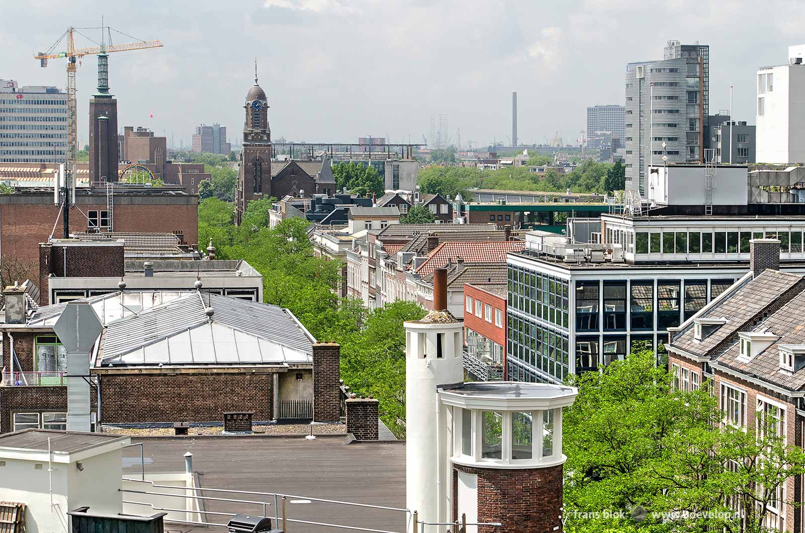Uitzicht over de Witte de Withstraat tijdens de Rotterdamse Dakendagen 2018