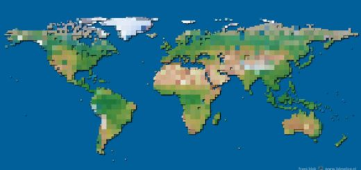 A World Block Map, in colors that are realistic, albeit somewhat exagerated