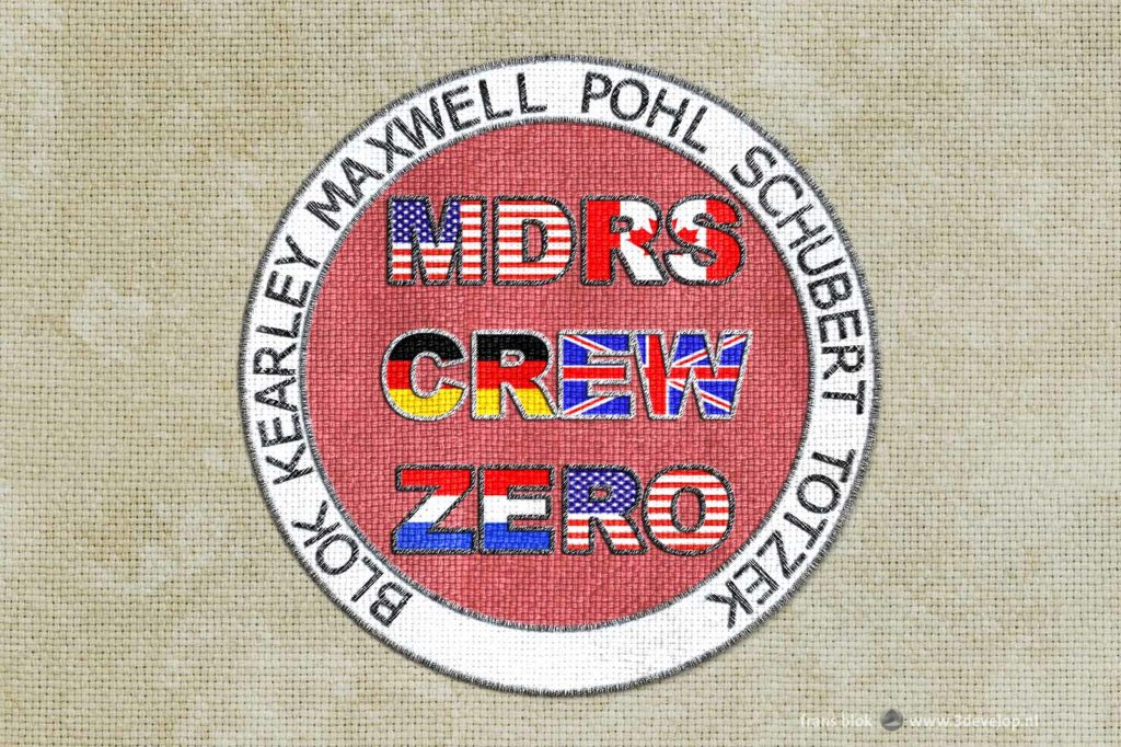 Virtual mission patch for Crew Zero at the Mars Desert Research Station in Utah