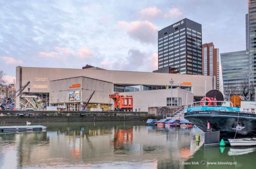 The Maritime Museum in Rotterdam, The Netherlands at Leuvehaven harbour
