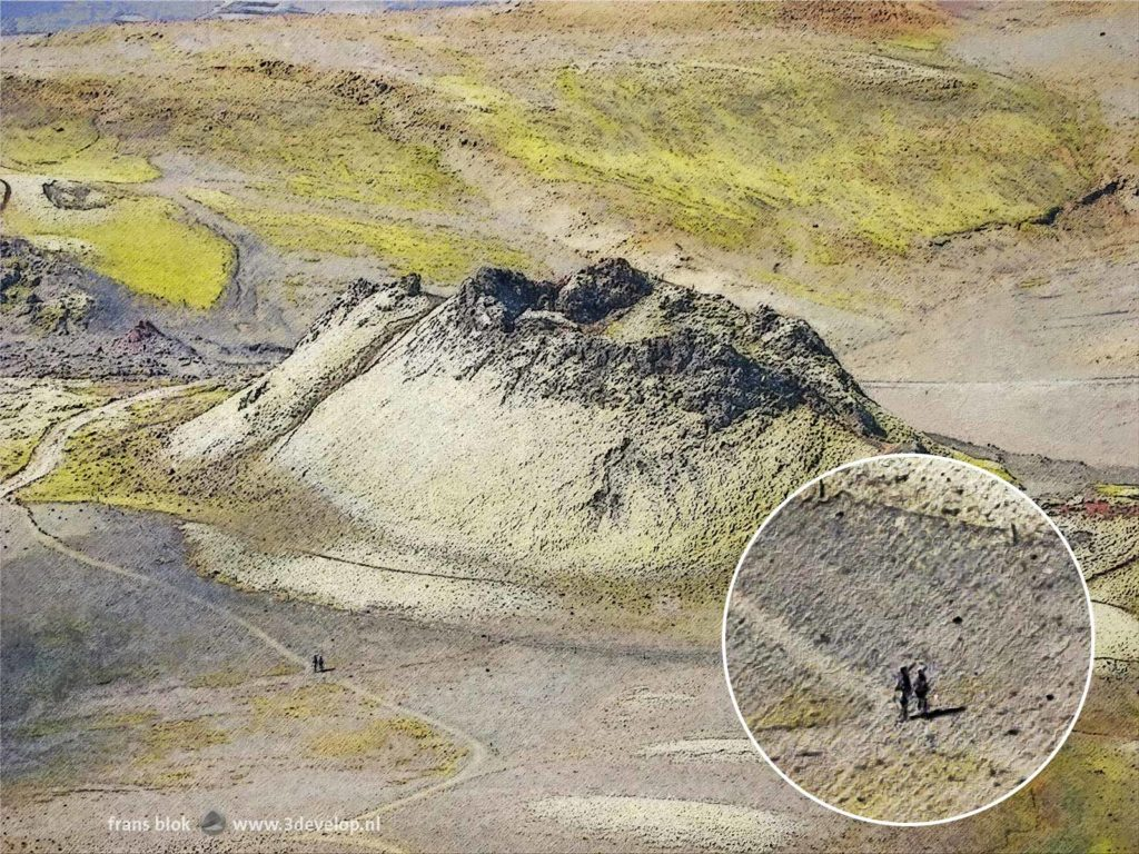 Digital impression of one of the volcanoes of Laki in Iceland
